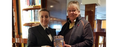 Cunard three Queens now have our book in the libraries .We visit QM2