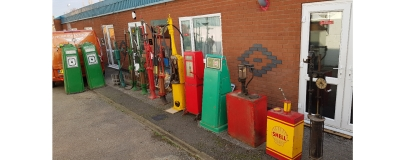 We purchase ten vintage pumps from Needles Landmark Attraction on Isle of Wight