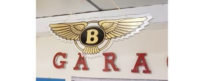 Original dealer signs BENTLEY and MASERATI