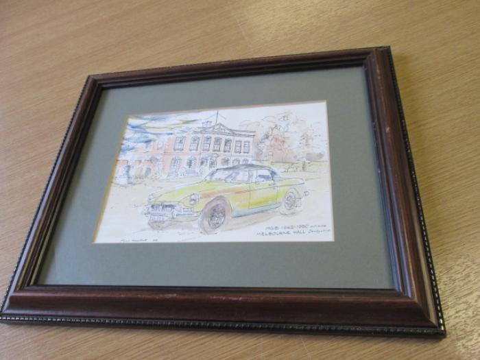 MGB sketch framed original