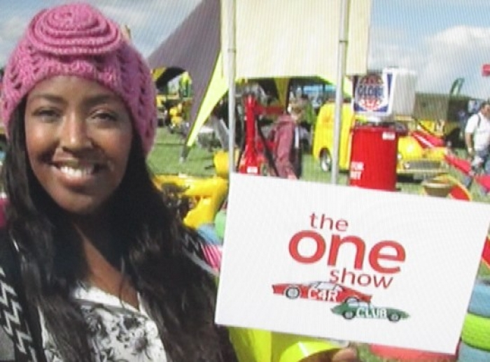 BBC One Show with our props at Chris Evans CarFest