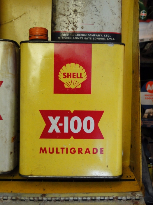 SHELL X 100 can
