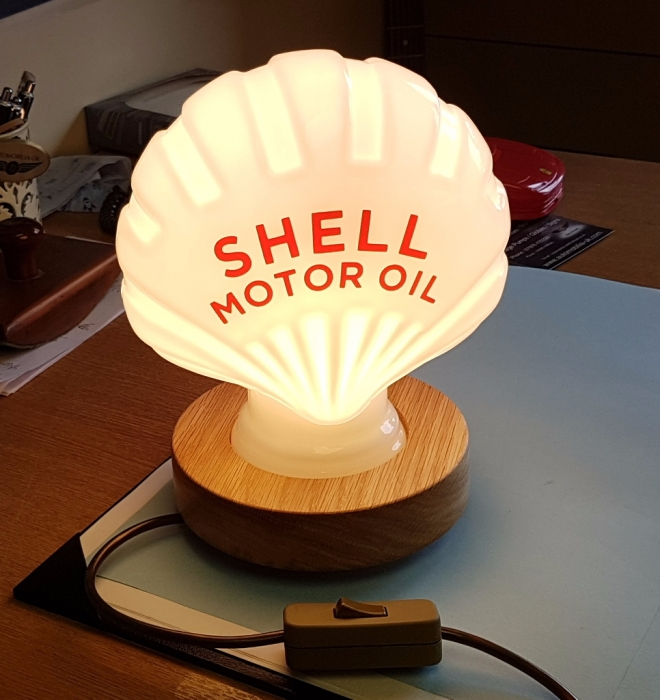 Shell desk lamps NEW in stock fantastic item with our oak bases
