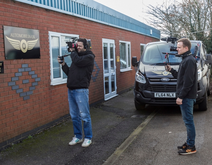 Filming for TV show at our showroom in Burton 2016