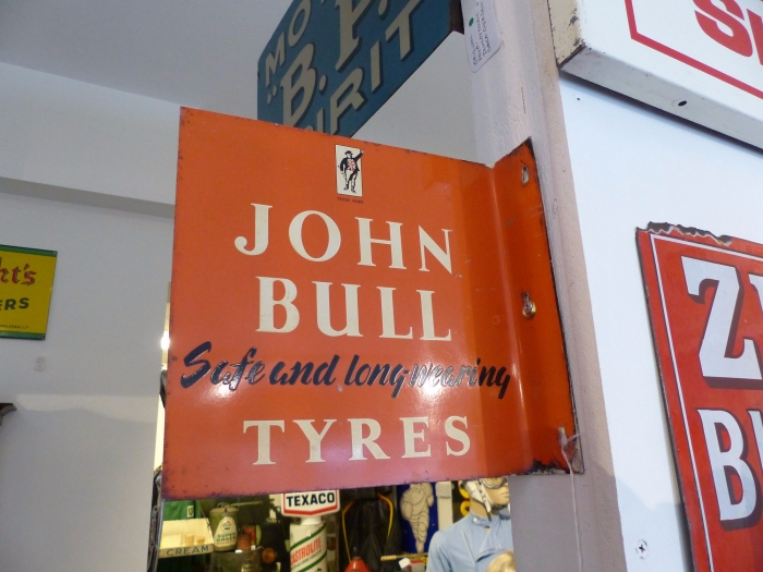 JOHN BULL Original double sided sign WHAT A FIND So RARE !!!!!