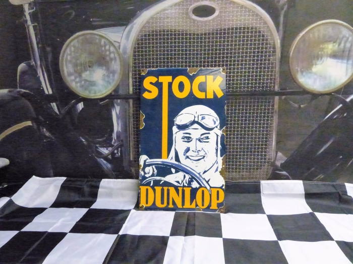 Dunlop enamel sign stunning AGED LOOK