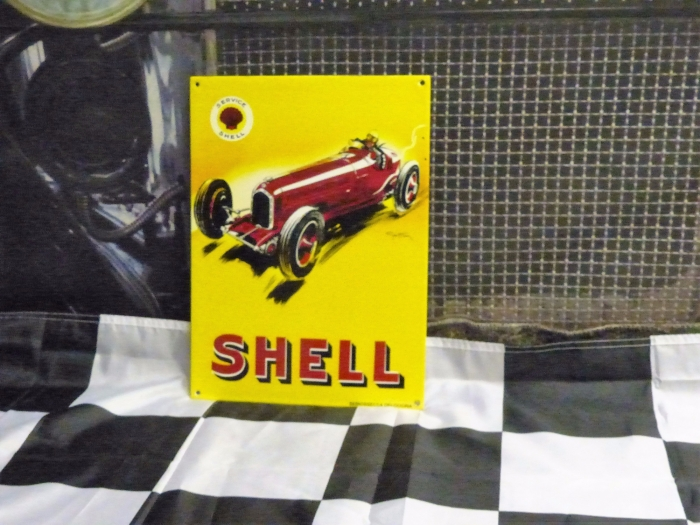 SHELL enamel sign 13 x 10 inch repro stunning sign