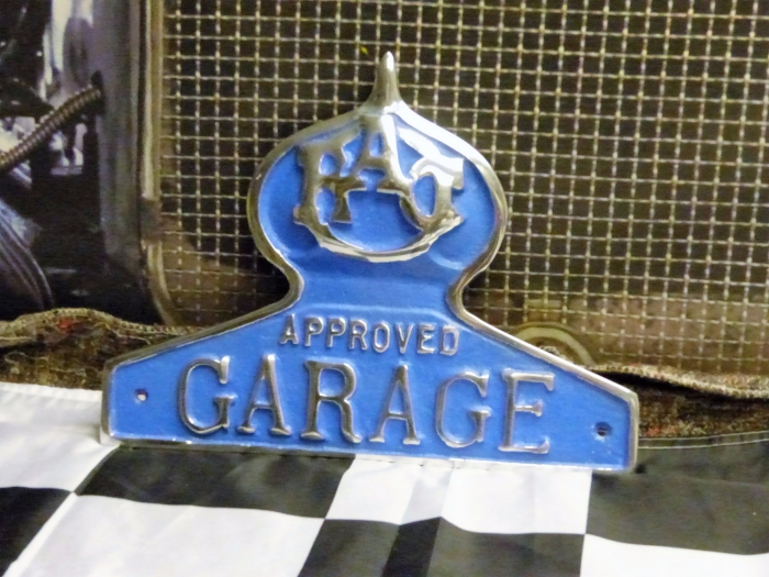 RAC approved garage sign plaque