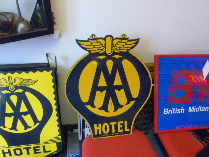 AA ORIGINAL Enamel sign 1930