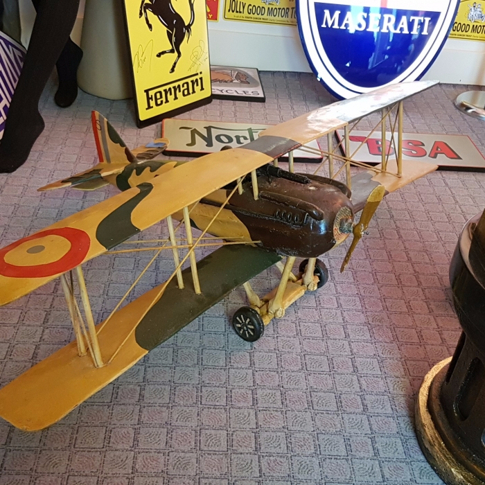 Bi-plane wooden plane great display item 4 foot wingspan
