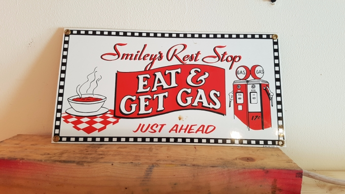 Porcelain repro sign 12 x 6 inch