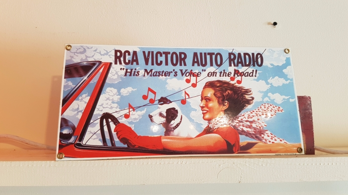 RCA porcelain sign 14 x 6 inch repro