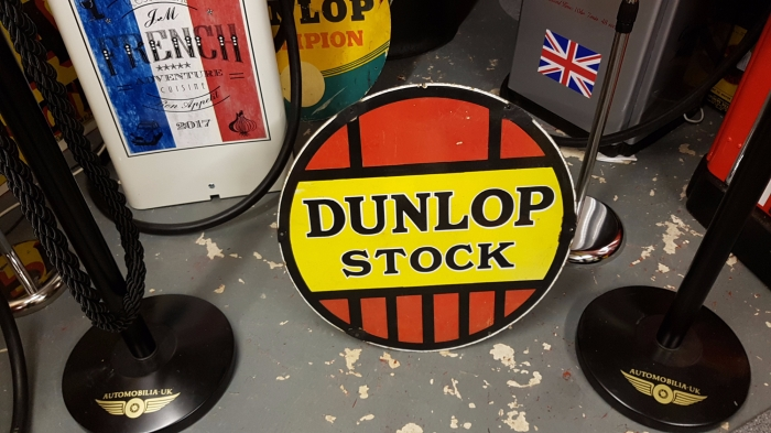 DUNLOP STOCK genuine enamel sign