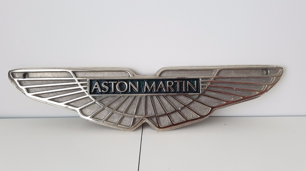 Aston Martin cast quality plaque repro 11 x 2 1/2 inches Stunning