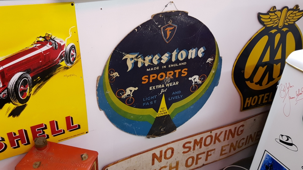 Firestone carded sign