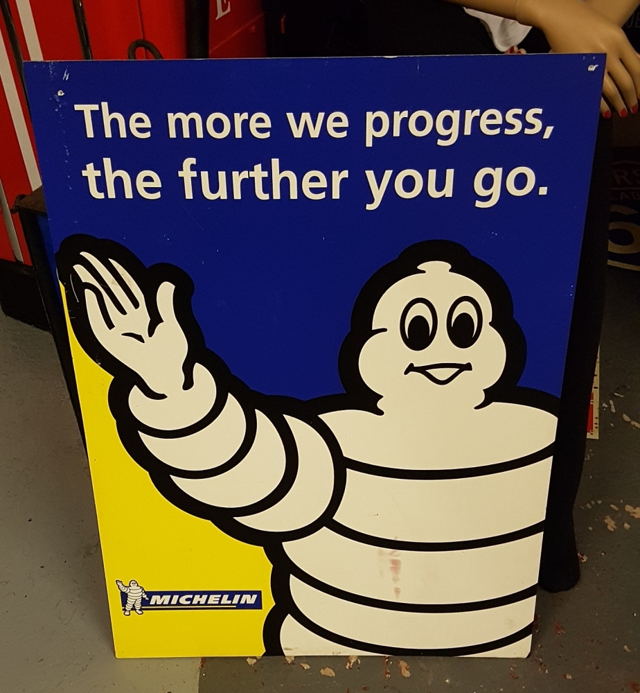 Michelin boarded sign