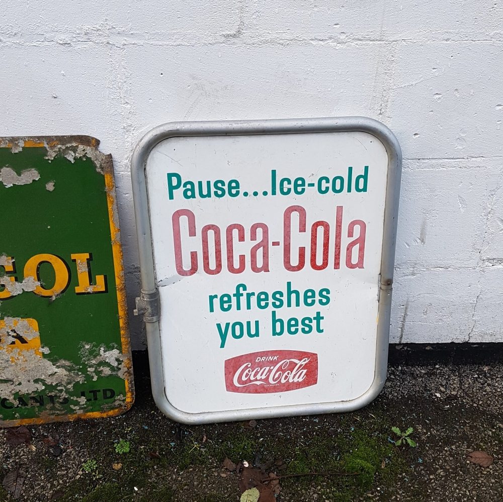 Coca Cola double sided sign