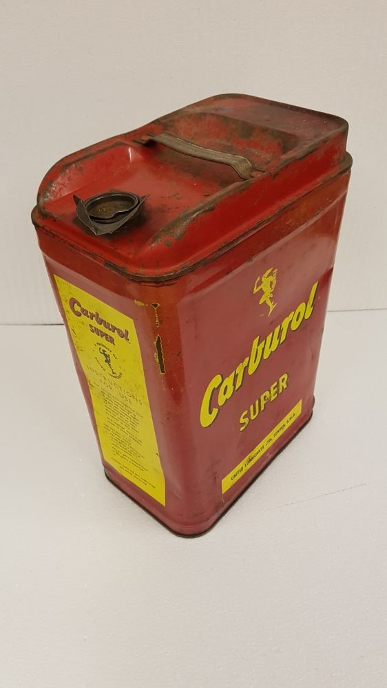 Carburol can 5 gallon some dents with cap
