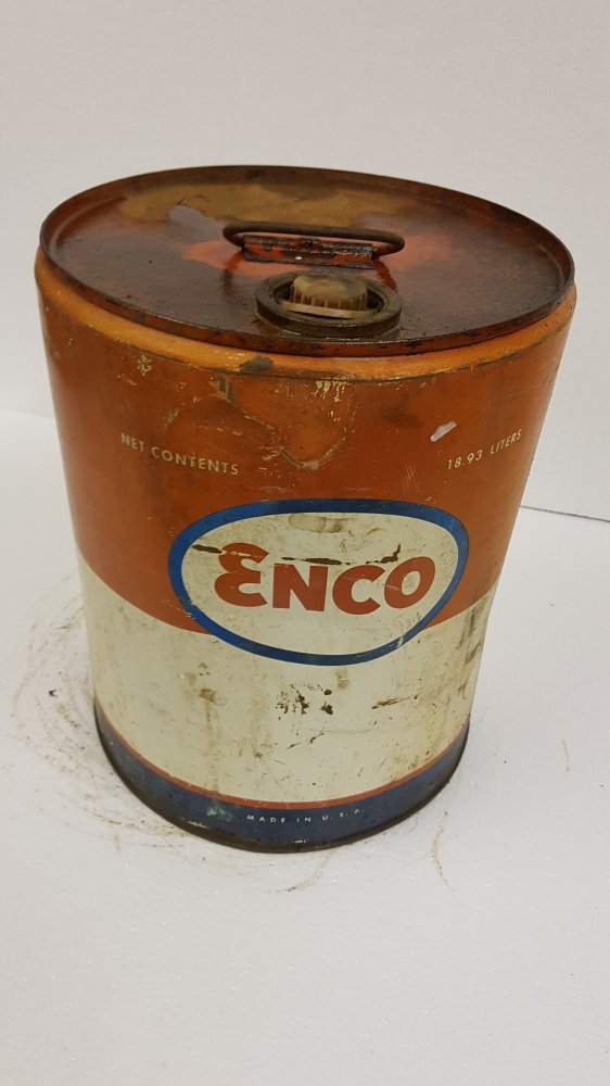ENCO 5 gallon can with dents