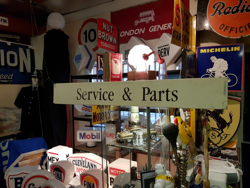 British Leyland service and parts sign