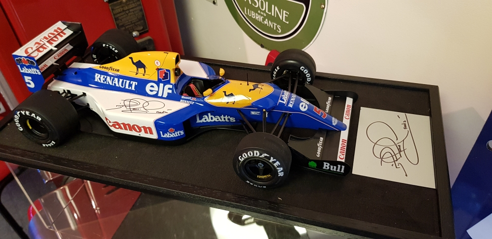 Nigel Mansell Williams 1/12 th. scale model and rear spoiler side panel