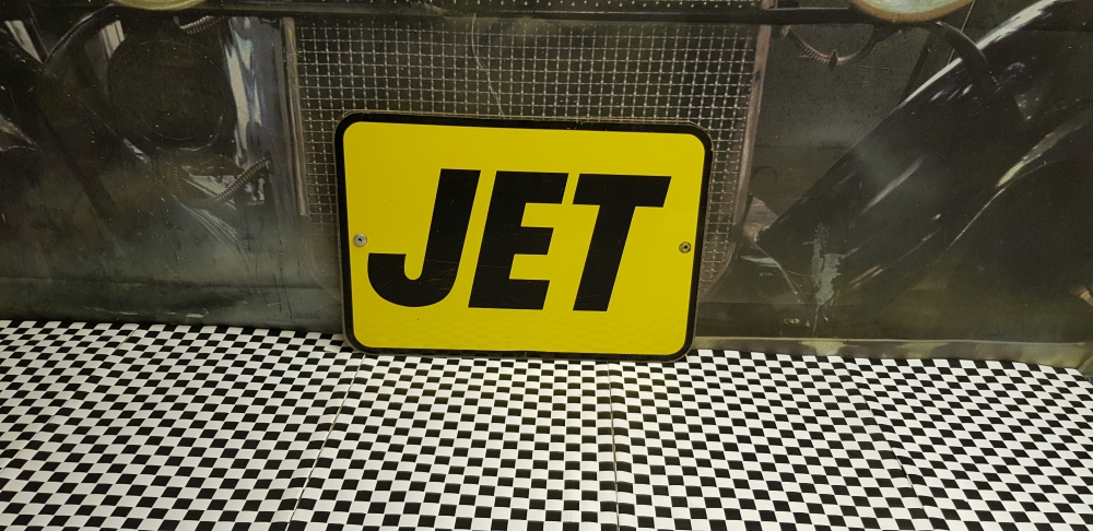 JET 17 x 12 inches sign , plastic