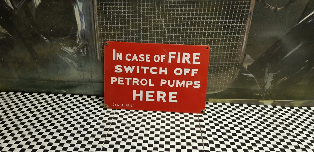 Garage sign 15 x 10 inch In case of Fire ...Metal original