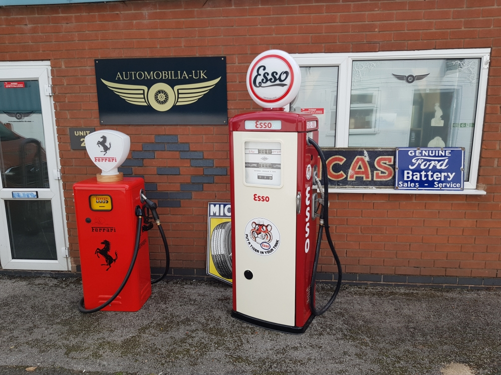 ESSO  livery vintage pump with built in storage (wine /beer )
