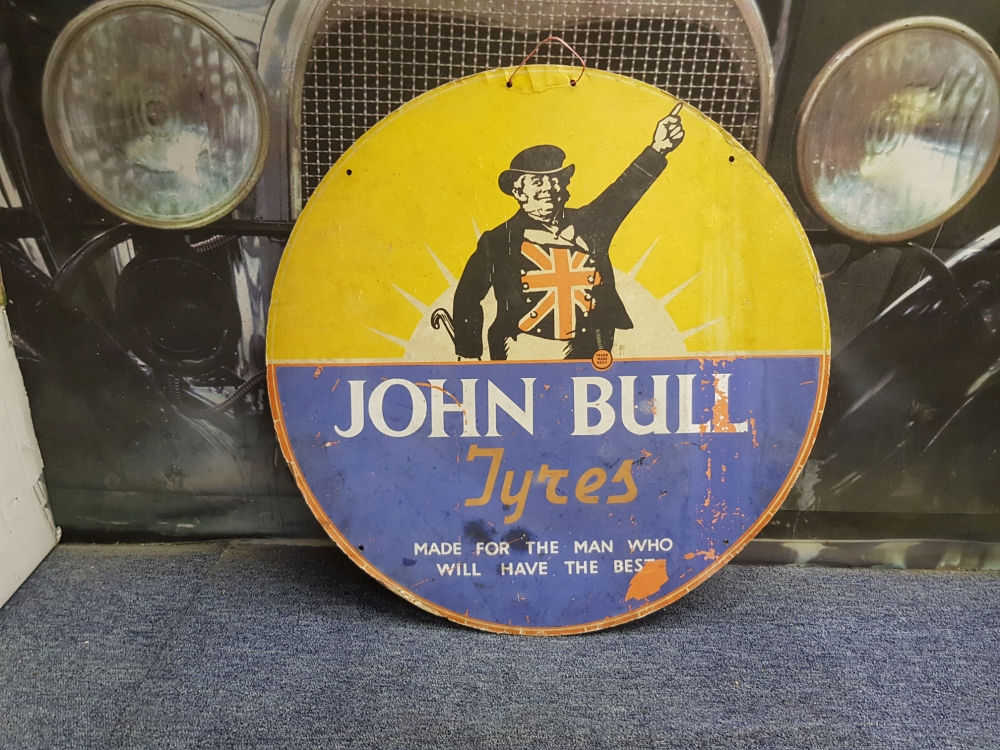 John Bull carded sign 24 inch fantastic display item