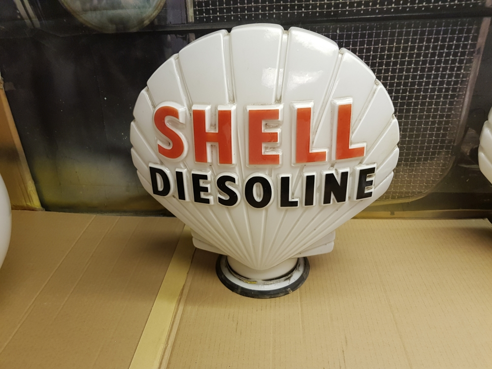 SHELL DIESOLINE Gkass ORIGINAL globe