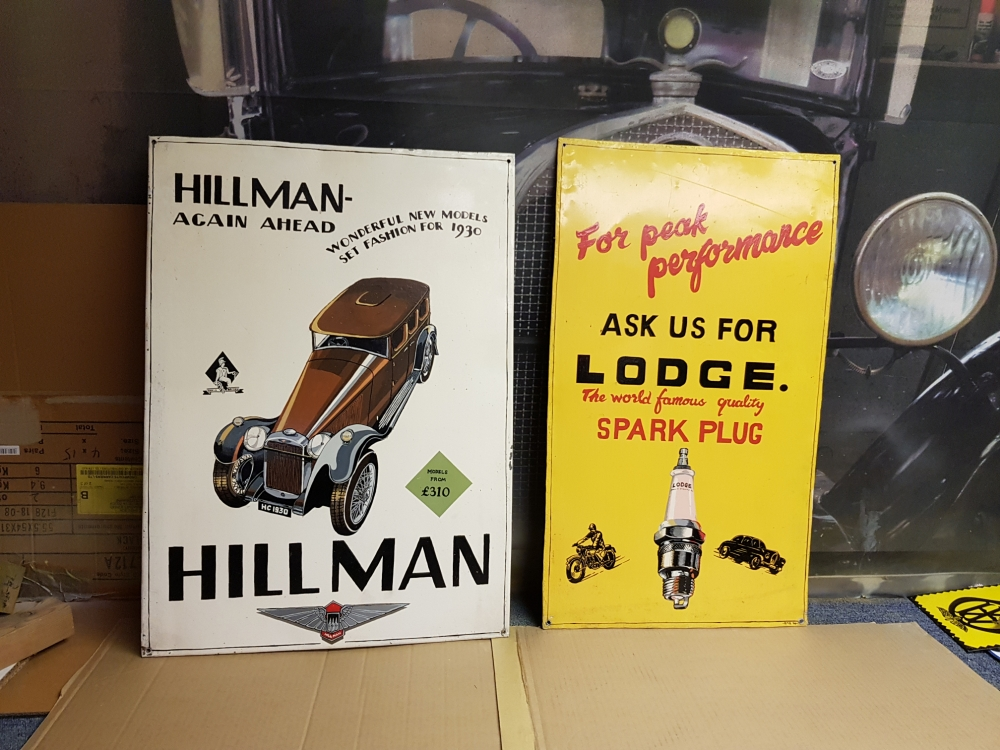 Hillman sign hand painted Stunning item !