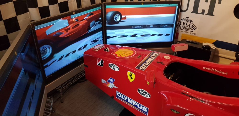 AAA FERRARI SIMULATOR a rare chance to own a stunning genuine F1 machine from the Marinello family WILL TAKE CLASSIC CAR IN EXCHANGE !!!!!