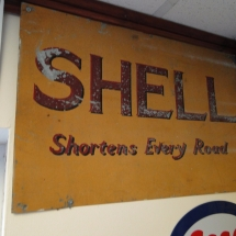 shell sign distressed