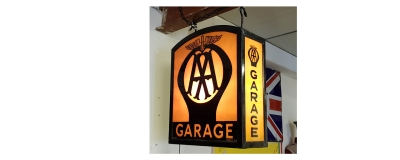 Stunning rare AA Garage lightbox in showroom NOW SOLD !!!!!