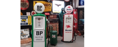 Nice pair ! BP and Mobil pumps ready to go ! on sale on website !!!!!