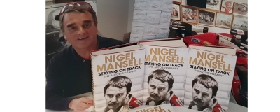 Nigel Mansell book signed copies now in stock