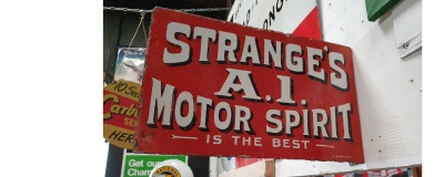 Rare early motoring sign from 1910 for sale on our website !