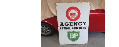 RARE SHELL / BP original enamel sign
