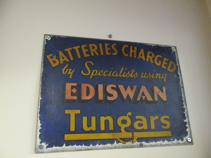 Batteries Charged sign