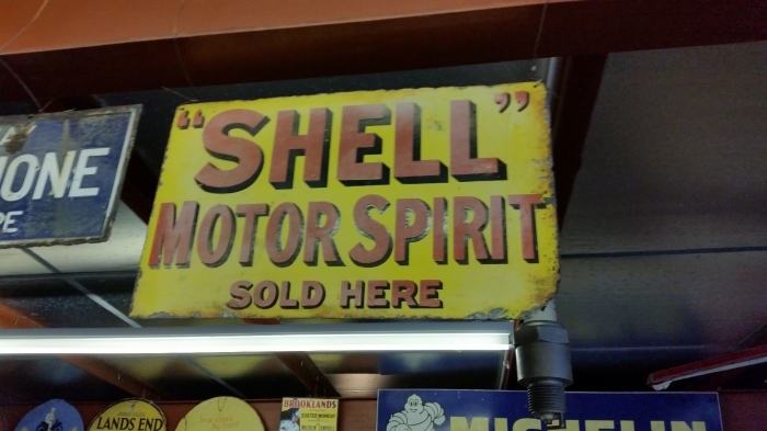 SHELL ORIGINAL ENAMEL SIGN DOUBLE SIDED