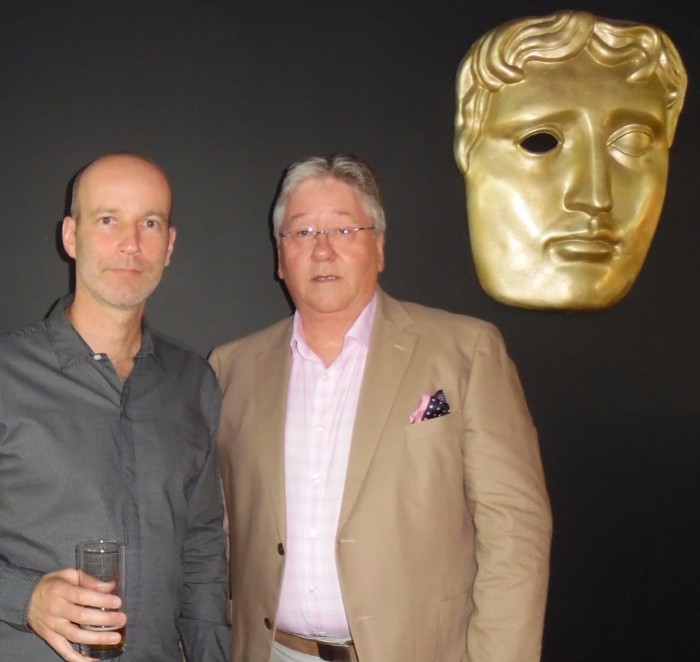 Leading Director Rob Sanders pictured at BAFTA screening of film he Directed that used props from Automobilia-uk