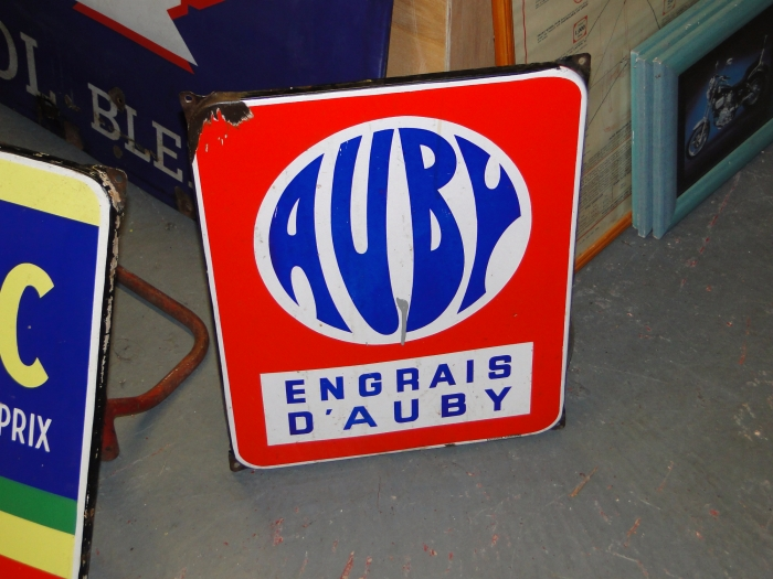 Auby French motoring sign ORIGINAL