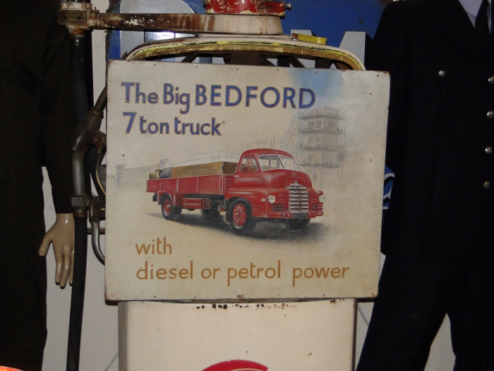 Bedford Lorry boarded sign ORIGINAL STUNNING RARE SIGN