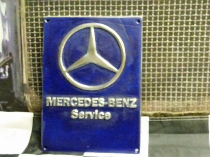 Z code Mercedes cast sign repro