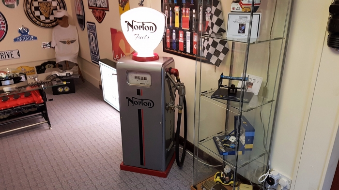 NORTON livery small pump 54 inches high with globe STUNNING !