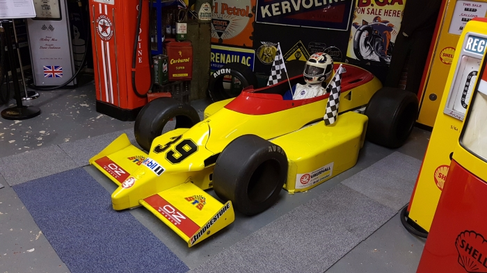 RACE CAR full size , stunning display , panels , chassis tub and tyres