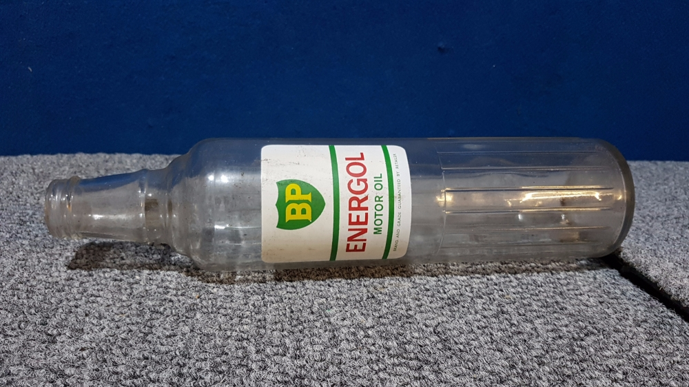 BP quart oil glass bottle