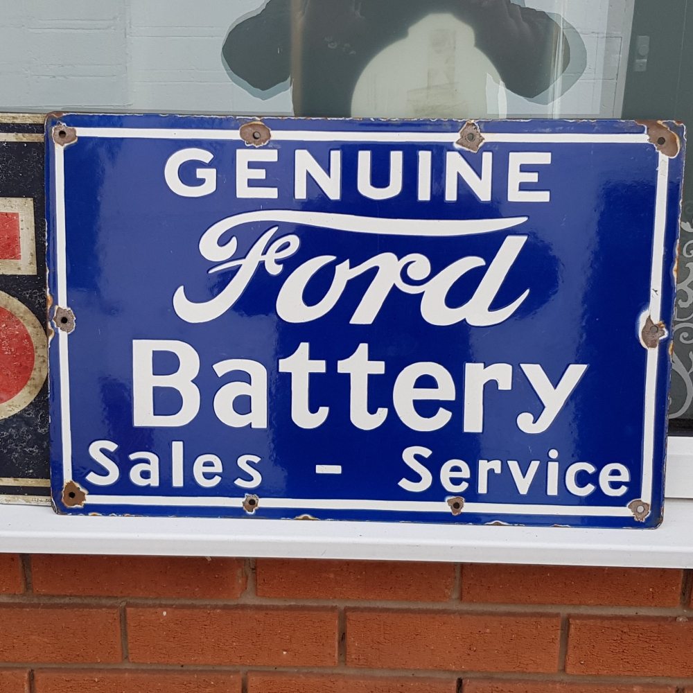 FORD vitreous enamel sign Fantastic display item