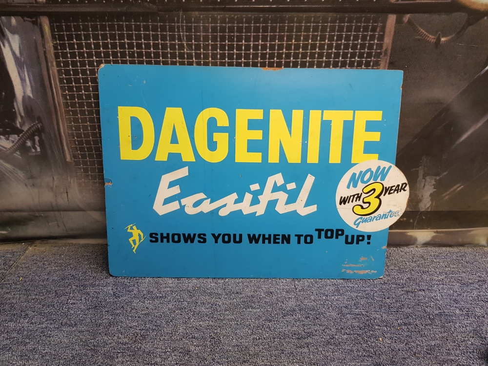 Daganite boarded sign , fantastic rare sign 20 x 14inch