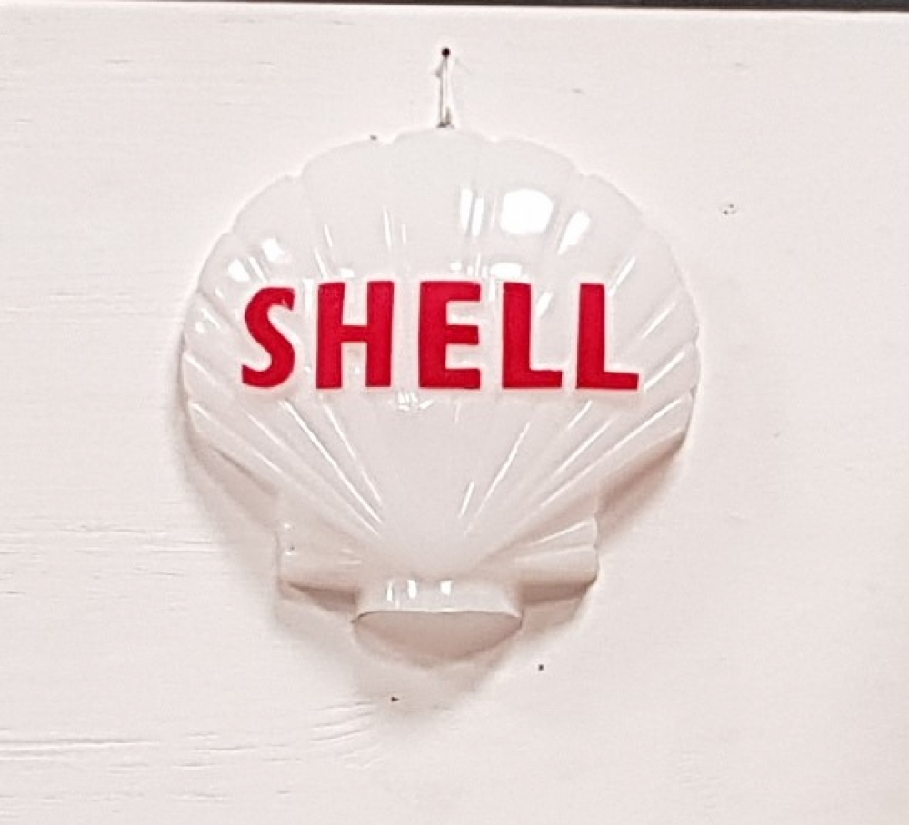 SHELL plastic wall mounted half globe , FULL SIZE , great display item
